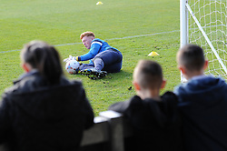 Bristol Rovers players warm up in front of fans during the open training session - Photo mandatory by-line: Dougie Allward/JMP - Mobile: 07966 386802 - 31/03/2015 - SPORT - Football - Bristol - Memorial Stadium - Vanarama Football Conference - Bristol Rovers Open Training Session