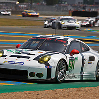 #91 Porsche 911 RSR, Porsche Team Manthey, Jorg Bergmeister, Michael Christensen, Richard Lietz, Le Mans 24H 2015