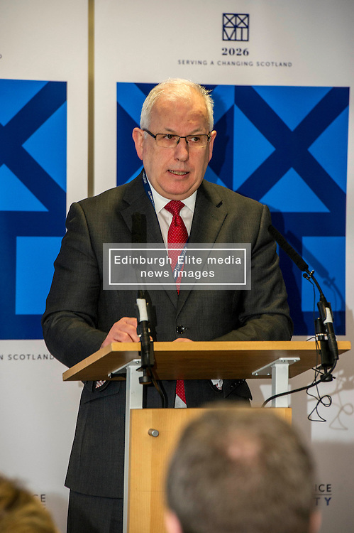 Pictured: Scottish Police Authority (SPA) Chairman Andrew Flanagan<br /> <br /> At Police Scotland HQ at Fettes Row in Edinburgh today , Chief Constable Phil Gormley and Scottish Police Authority (SPA) Chairman Andrew Flanagan launched a long-term strategy for policing and a public consultation to help shape it.  <br /> <br /> Ger Harley   EEm 27 February 2017
