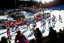 Athletes compete during Men 15 km Mass Start at day 4 of IBU Biathlon World Cup 2014/2015 Pokljuka, on December 21, 2014 in Rudno polje, Pokljuka, Slovenia. Photo by Vid Ponikvar / Sportida