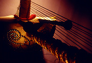 Studio photos of a Kora. Musical Instrument from West Africab/ Senegal