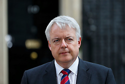 © Licensed to London News Pictures. 05/04/2016. London, UK. Wales First Minister CARWYN JONES talking to media after attending a meeting to discuss potential buyers of Tata Steel plants with Prime Minister David Cameron in Downing Street on Tuesday, 5 April 2016. Photo credit: Tolga Akmen/LNP