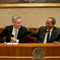Conferenza stampa del presidente della Repubblica araba Sahrawi Mohamed Abdelaziz