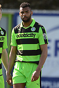 Forest Green Rovers defender Curtis Tilt (2) on his home debut 0-0 during the Vanarama National League match between Forest Green Rovers and North Ferriby United at the New Lawn, Forest Green, United Kingdom on 1 April 2017. Photo by Alan Franklin.
