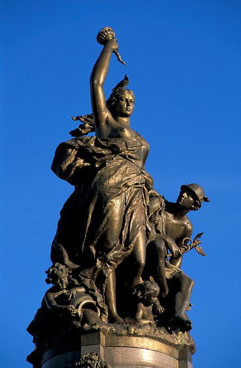 Statue on Praca Sao Sebastiao, Manaus, Amazonia, Brazil