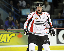 Brock Beukeboom helped Team OHL to a 2-1 shootout win over Russia in Game 4 of the SUBWAY Super Series in Sudbury, ON on Monday Nov. 15, 2010.  Photo by Aaron Bell/OHL Images