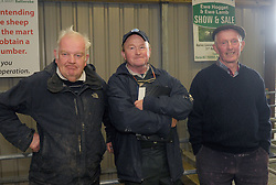 Frank Morahan Kilmaine, Joe Flannelly Ballinrobe and Michael Staunton Tourmakeady at the Mayo Mule and Greyface Premier Show and sale.<br /> Pic Conor McKeown