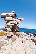 Inukshuk, Cape Bonavista, Bonavista Peninsula, Newfoundland, Canada