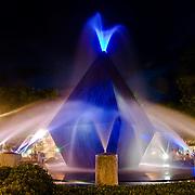 Night view of a park in David, Chiriqui. Panama
