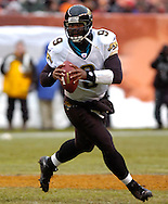 MORNING JOURNAL/DAVID RICHARD<br /> Jacksonville quarterback David Garrard's scrambling gave the Browns' fits all game.