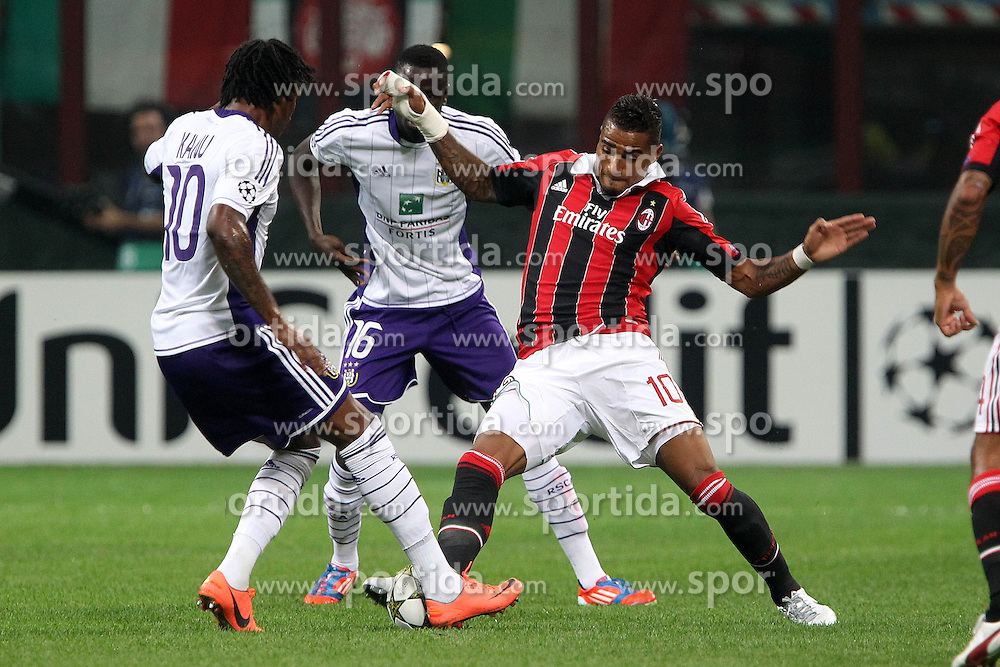 18.09.2012, Stadio Giuseppe Meazza, Mailand, ITA, UEFA Champions League, AC Mailand vs RSC Anderlecht, Gruppe C, im Bild Kevin Prince Boateng Milan 1 // during the UEFA Champions League group C match between AC Milan and RSC Anderlecht at the Stadio Giuseppe Meazza, Milano, Italy on 2012/09/18. EXPA Pictures © 2012, PhotoCredit: EXPA/ Insidefoto/ Paolo Nucci..***** ATTENTION - for AUT, SLO, CRO, SRB, SUI and SWE only *****