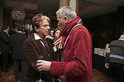 Nicky Haslam and Paul Blezard, Charles Finch and Weidenfeld and Nicolson host a party to celebrate the publication of 'Dancing Into Battle' by Nick Foulkes. The Westbury Hotel, Conduit St. London. 14 December 2006. ONE TIME USE ONLY - DO NOT ARCHIVE  © Copyright Photograph by Dafydd Jones 248 CLAPHAM PARK RD. LONDON SW90PZ.  Tel 020 7733 0108 www.dafjones.com