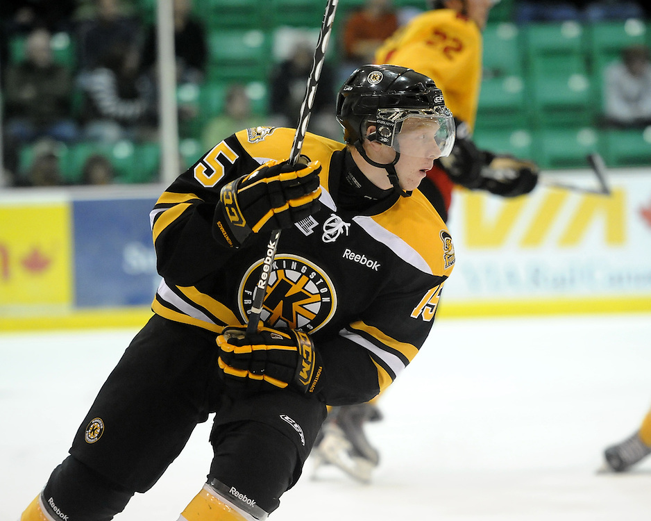 Kyler Nixon of the Kingston Frontenacs. Photo by Aaron Bell/OHL Images