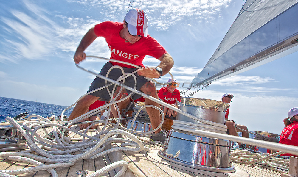 J-CLASS J5 RANGER , training for the Super Yacht Cup 2013 in Palma ©jrenedo