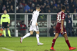 December 15, 2018 - Turin, Piedmont, Italy - Cristiano Ronaldo (Juventus FC) celebrates after scoring during the Serie A football match between Torino FC and Juventus FC at Olympic Grande Torino Stadium on December 15, 2018 in Turin, Italy. Torino lost 0-1 against Juventus. (Credit Image: © Massimiliano Ferraro/NurPhoto via ZUMA Press)