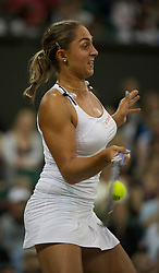 LONDON, ENGLAND - Tuesday, June 28, 2011: Tamira Paszek (AUT) druing the Ladies' Singles Quarter-Final match on day eight of the Wimbledon Lawn Tennis Championships at the All England Lawn Tennis and Croquet Club. (Pic by David Rawcliffe/Propaganda)