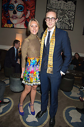 ALEX COLERIDGE and TOR DASHWOOD at the Tatler Little Black Book Party at Home House Member's Club, Portman Square, London supported by CARAT on 11th November 2015.