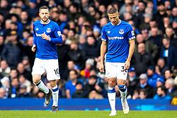 Richarlison and Gylfi Sigurdsson of Everton cut dejected figures - Mandatory by-line: Robbie Stephenson/JMP - 02/02/2019 - FOOTBALL - Goodison Park - Liverpool, England - Everton v Wolverhampton Wanderers - Premier League