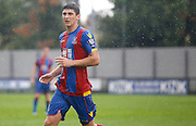Jake Gray in the rain during the Final Thirds Development League match between U21 Crystal Palace and U21 Watford at Selhurst Park, London, England on 24 August 2015. Photo by Michael Hulf.