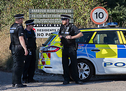 © Licensed to London News Pictures. 30/08/2016. Bognor Regis, UK. An armed siege in Pagham has ended. A 72 year old man who has been in a stand-off with police since 4pm on Sunday has given himself up.  Photo credit: Peter Macdiarmid/LNP
