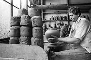 Moldovita, 1993: azienda produttrice di vasi - factory producing pots.<br /> &copy; Andrea Sabbadini