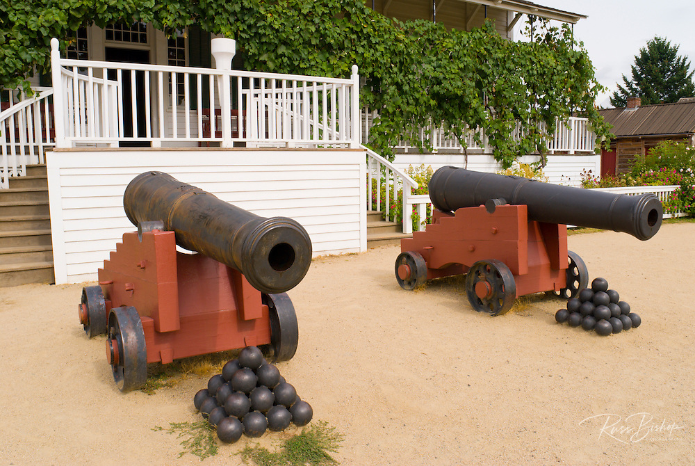 Cannons in front of the Chief Factor's Residence, Fort Vancouver National Historic Site, Vancouver, Washington