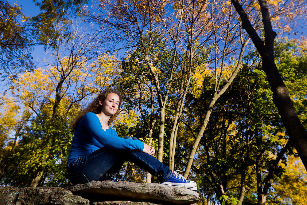 Images from a senior session featuring Allison S at Nathaniel Greene Park on October 16, 2012 in Springfield, Missouri. (David Welker/www.Turfimages.com).