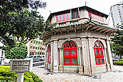 Chinese Octagonal Pavilion Library in the Jardim do Sao Francisco or Sao Francisco Garden in Macau.