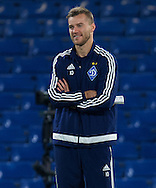 Andriy Yarmolenko of Dynamo Kyiv before the UEFA Champions League match at Stamford Bridge, London<br /> Picture by Alan Stanford/Focus Images Ltd +44 7915 056117<br /> 04/11/2015