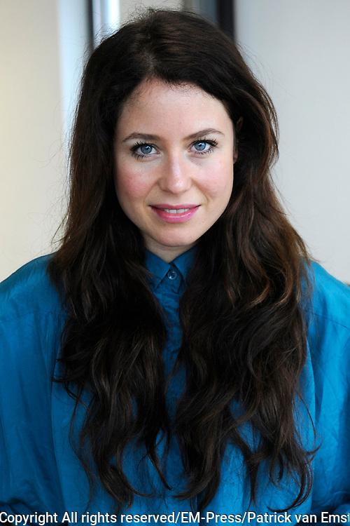 Perspresentatie van De Verleiding van een Moordvrouw van Rick Engelkes Producties in Amsterdam.<br /> <br /> Op de foto:  Sanne Vogel