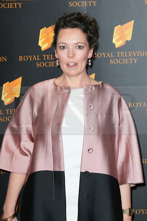 © Licensed to London News Pictures. 18/03/2014, UK. Olivia Colman, The Royal Television Society Programme Awards, Grosvenor House Hotel, London UK, 18 March 2014. Photo credit : Richard Goldschmidt/Piqtured/LNP
