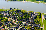 Nederland, Gelderland, West-Betuwe, 13-05-2019; het dorp Haaften gelegen aan rivier de Waal.<br /> Village at river Waal (Rhine).<br /> <br /> luchtfoto (toeslag op standard tarieven);<br /> aerial photo (additional fee required);<br /> copyright foto/photo Siebe Swart
