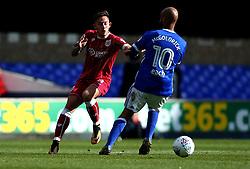 Josh Brownhill of Bristol City goes past David McGoldrick of Ipswich Town - Mandatory by-line: Robbie Stephenson/JMP - 30/09/2017 - FOOTBALL - Portman Road - Ipswich, England - Ipswich Town v Bristol City - Sky Bet Championship