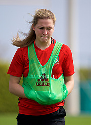 LARNACA, CYPRUS - Thursday, March 1, 2018: Wales' Chloe Chivers during a training session in Larnaca on day three of the Cyprus Cup tournament. (Pic by David Rawcliffe/Propaganda)