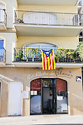 Catalan Flag photographed in Lloret de Mar, Costa Brava, Spain