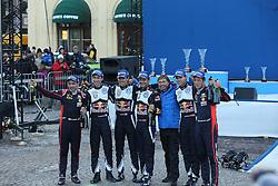 15.02.2015,  Karlstad, SWE, FIA, WRC, Schweden Rallye, im Bild The Podium, 1: Sebastien Ogier/Julien Ingrassia (Volkswagen Motorsport/Polo R WRC), 2: Thierry Neuville/Nicolas Gilsoul (Hyundai Motorsport/i20 WRC), 3:Andreas Mikkelsen/Ola Floene (Volkswagen Motorsport II/Polo R WRC) and Jost Capito // during the WRC Sweden Rallye at the Karlstad in Karlstad, Sweden on 2015/02/15. EXPA Pictures &copy; 2015, PhotoCredit: EXPA/ Eibner-Pressefoto/ Bermel<br /> <br /> *****ATTENTION - OUT of GER*****
