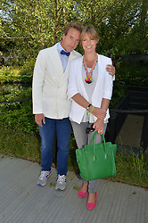 BEN & MARINA FOGLE at the 2014 RHS Chelsea Flower Show held at the Royal Hospital Chelsea, London on 19th May 2014.