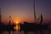 Shrimp Boats at sunset, Amelia Island, Florida<br />