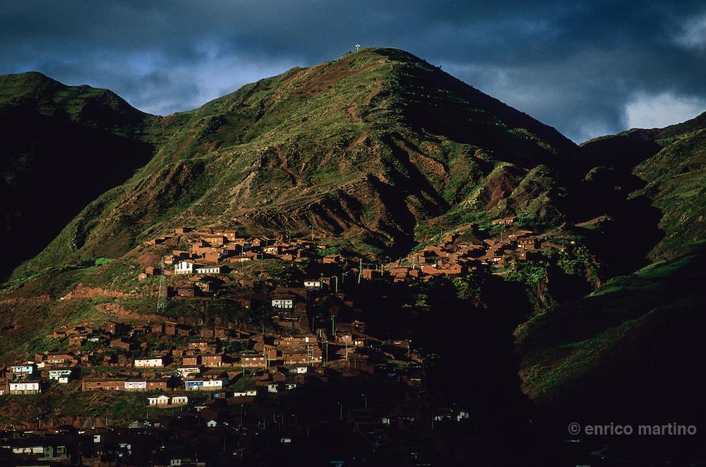 Fields near old inca capital.