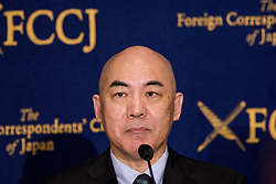 July 4, 2017 - Tokyo, Tokyo, Japan - Naoki Hyakuta, Author and Screenwriter gives a response to questions during a press conference at The Foreign Correspondent Club Of Japan ( FCCJ ) in Tokyo. Hyakuta is one of Japan's most popular and controversial novelists. A television screenwriter for many years, he found fame with his 2006 novel Eternal Zero, which was made into an award-winning film in 2013. The film, in particular, divided audiences. Some found it a deeply moving tale of World War II fighter pilots; others regarded it as a glorification of kamikaze suicide attacks. In early June, the author Naoki Hyakuta was scheduled to give a speech at Hitotsubashi University on ''The State of the Mass Media in Today's Society''. But following a campaign by a campus group that accuses Hyakuta of racism, his appearance was cancelled. A prolific writer, Hyakuta's recent novels include The Man They Called Pirate and The Paradise of Frogs. In 2013, Prime Minister Shinzo Abe appointed him a governor of public broadcaster NHK. He served in that capacity until 2015. Hyakuta is frequently in the news over controversial remarks about history, politics and the media. (Credit Image: © Alessandro Di Ciommo via ZUMA Wire)