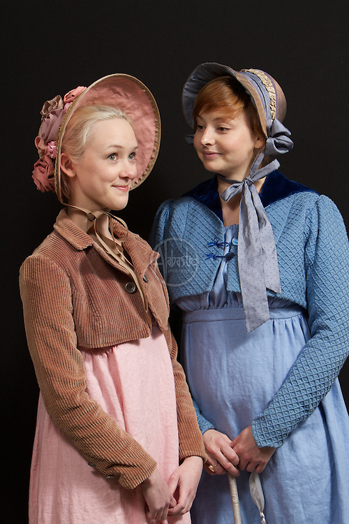Jessica Martin as Miss Marianne Dashwood and Kjerstine Anderson as Miss Elinor Dashwood in Book-It Repertory Theatre's production of Sense & Sensibility.