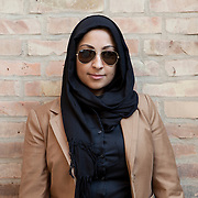 Ferrara, Italy, October 7, 2012. Maryam Al Khawaja, Bahraini human rights activist, vice president for the Bahrain Center for Human Rights. She is the daughter of the Bahraini human rights defender Abdulhadi al-Khawaja, imprisoned for his work. She used Twitter to report what was happening in her country.