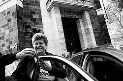 Susanna Camusso at the Ministry of Economic Development after the meeting with Alitalia trade unions protest. Rome 12 October 2018. Christian Mantuano / OneShot