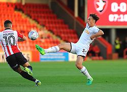 Jack Evans of Swansea City U21- Mandatory by-line: Nizaam Jones/JMP - 15/08/2017 - FOOTBALL - LCI Rail Stadium - Cheltenham, England - Cheltenham Town v Swansea City U21 - Checkatrade Trophy