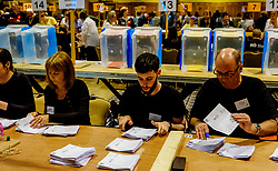General Election 2017 Dumfries Count :: The count gets underway.<br /> <br /> <br /> (c) Andrew Wilson | Edinburgh Elite media