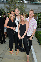 Left to right, TAMZIN OUTHWAITE, JACK FOX, NICOLE APPLETON and DEAN PIPER at a party to celebrate the launch of Le Jardin de Monsieur Li by Hermes in association with Mr Fogg's was held at Hermes, 155 New Bond Street, London on 9th July 2015.