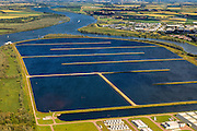 Nederland, Zuid-Holland, Gemeente Spijkenisse, 15-07-2012; Beerenplaat met productielocatie voor drinkwater Berenplaat van drinkwaterbedrijf Evides aan de Oude Maas.<br /> Production location for drinking water Berenplaat of drinking water company Evides. <br /> luchtfoto (toeslag), aerial photo (additional fee required)<br /> foto/photo Siebe Swart