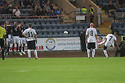 Rangers' Arnold Peralta scores a sensational free kick to equalise - Dundee v Rangers - pre-season friendly to celebrate Dundee's 120th Aniversary at Dens Park<br /> <br />  - Pictures from David Young