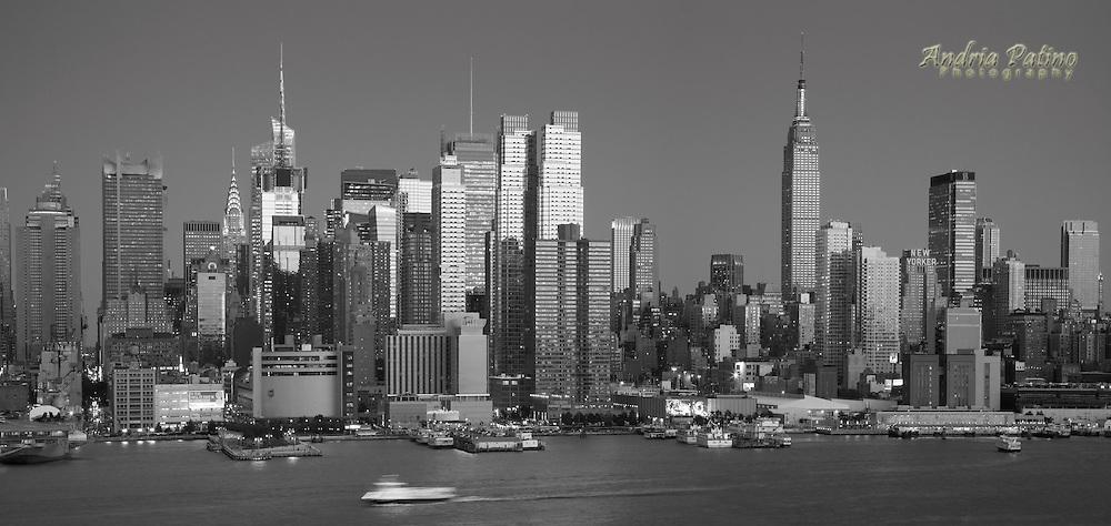 Sunset over the Midtown Manhattan Skyline
