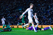 Leeds United forward Patrick Bamford (9) reacts during the EFL Sky Bet Championship match between Leeds United and Sheffield Wednesday at Elland Road, Leeds, England on 11 January 2020.